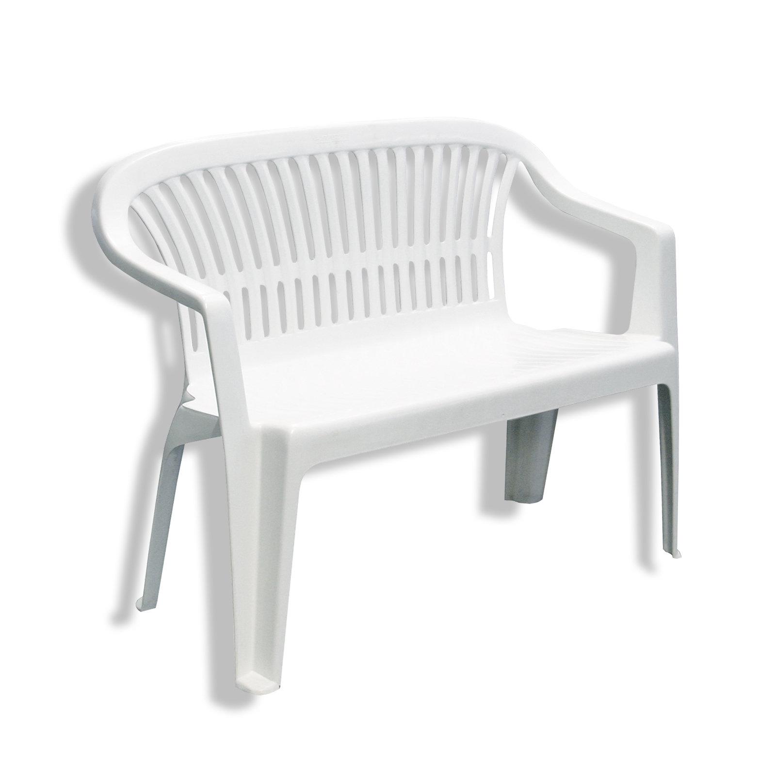 Gartenbank Kunststoff Weiß