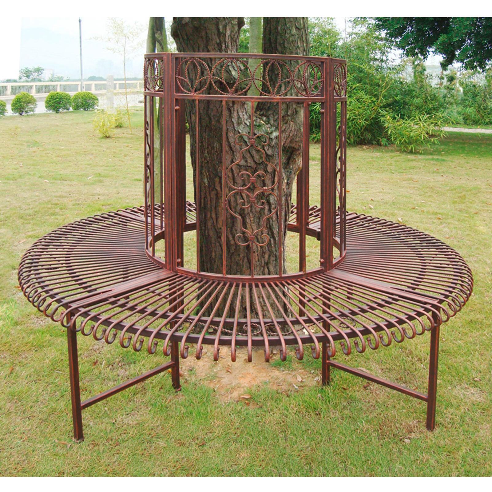 Gartenbank Metall Baum