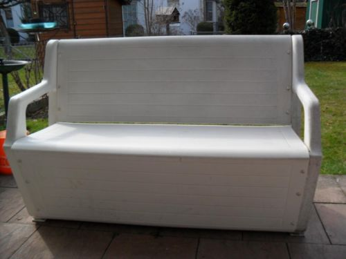 Gartenbank Weiß Kunststoff
