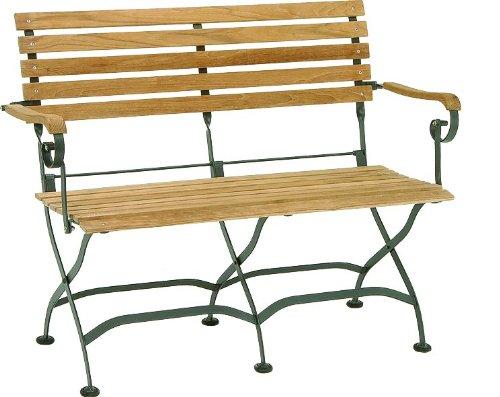 Eisen Gartenbank Klappbar Stern 2 Sitzer
