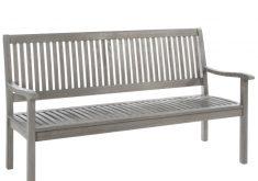 Gartenbank Grau Holz 3 Sitzer Canberra Serie