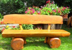 Gartenbank Holz Massiv