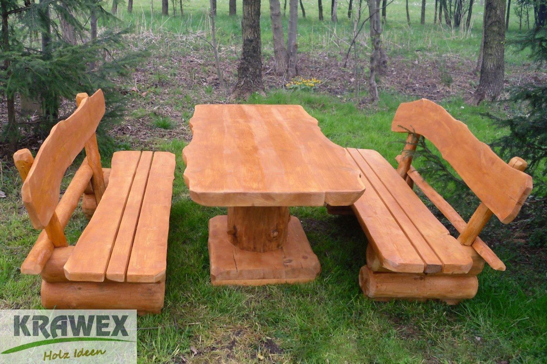 Gartenbank Holz Massiv 3 Sitzer
