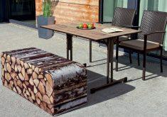 Gartenbank Holz Rustikal Outdoor Weicher Auflage