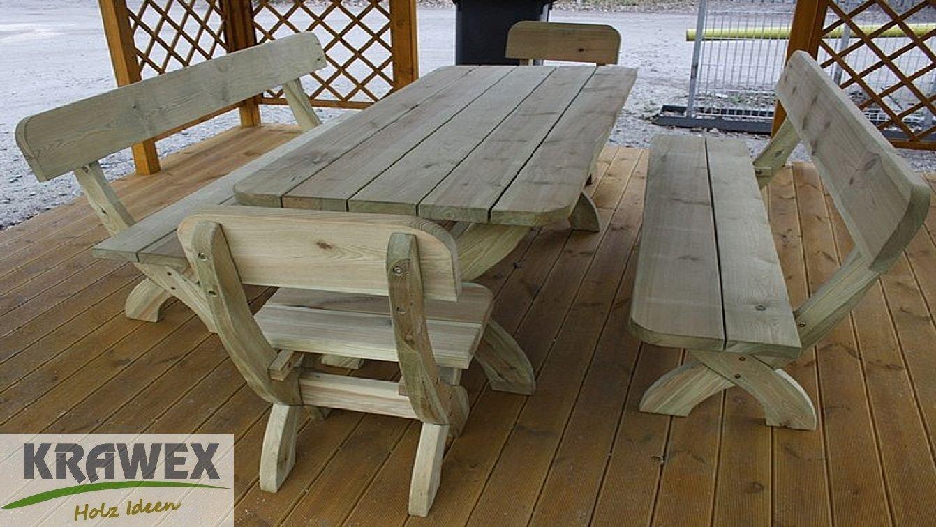 Gartenbank Holz Weiss Massiv