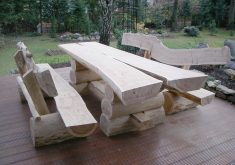 Gartenbank Massiv Rustikal Sitzgarnitur Sitzgruppe