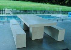 Gartenbank Massiv Weiss Mit Tisch Und Sehr Modern Wirken