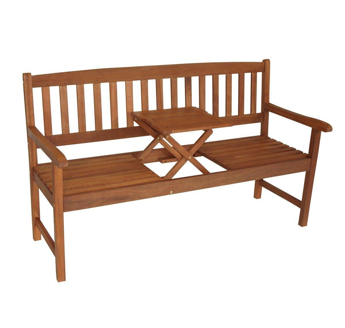 Gartenbank Mit Ausklappbarem Tisch
