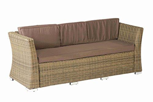 gartenbank rattan 3 sitzer saharabeige stahlgestell kunststoffgeflecht garten ideen. Black Bedroom Furniture Sets. Home Design Ideas