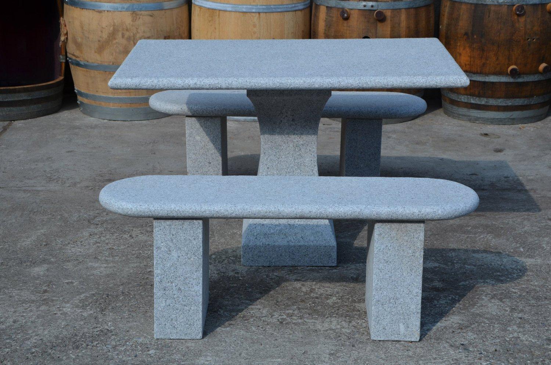 Gartenbank Und Tisch Aus Granit