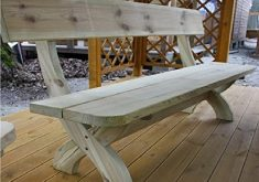 Gartenbank Weiß Holz Massiv