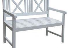 Gartenbank Weiss 2 Sitzer
