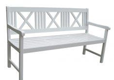 Gartenbank Weiss 3 Sitzer