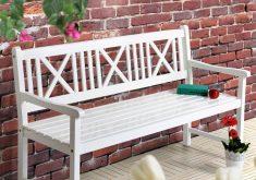 Gartenbank Weiss Holz