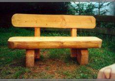 Rustikale Gartenbank Aus Holz
