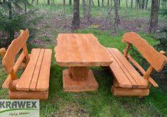 Rustikale Gartenbank Bauen Sitzgruppe Sitzgarnitur