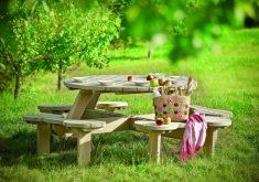 Rustikale Gartenbank Mit Tisch