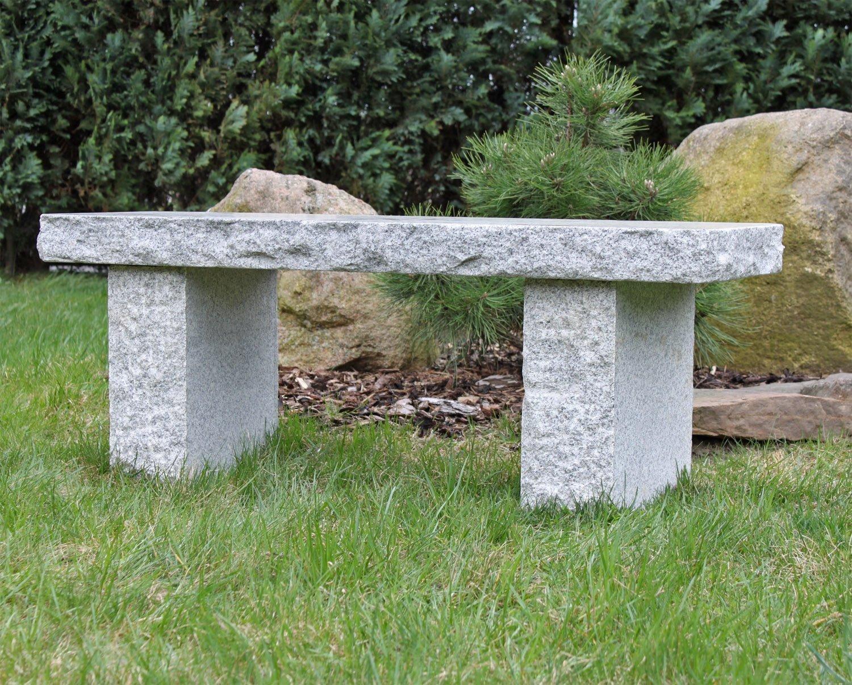Bauhaus Gartenbank Granit Naturstein