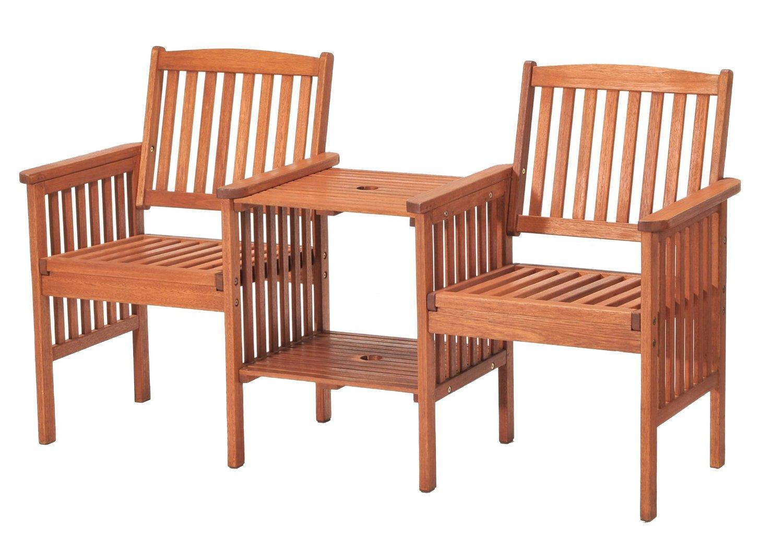 Chichester Gartenbank 2 Sitzer Eukalyptusholz Fsc Zertifiziert