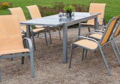Gartenbank Aluminium Holz