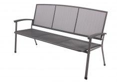 Gartenbank Aus Aluminium Rivo 3 Sitzer Streckmetall Eisengrau