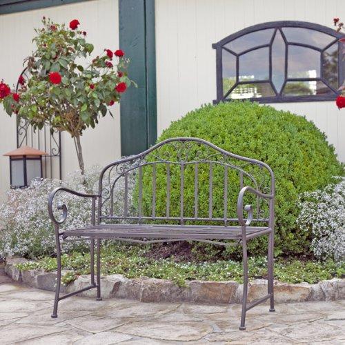 Gartenbank Aus Eisen Metal 2 Sitzer