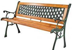 Gartenbank Aus Metall Und Holz
