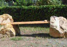 Gartenbank Aus Naturstein Und Holz