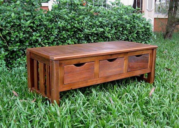 Gartenbank Holz Aufbewahrung