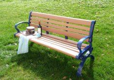 Gartenbank Metall Blau