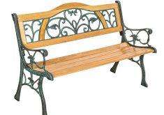 Gartenbank Metall Holz 2 Sitzer