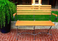 Gartenbank Metall Holz