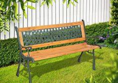 Gartenbank Metall Holz 3 Sitzer