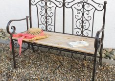 Gartenbank Metall Holz Antik