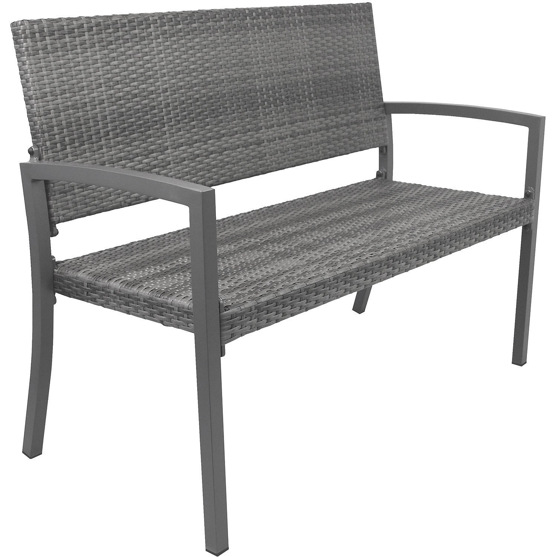 Gartenbank Polyrattan Obi 2 Sitzer Grau