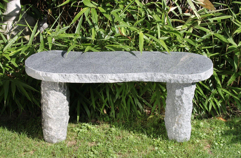 Gartenbank Stein Selber Bauen Granit Modell Arlberg Dunkelgrau