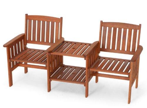 Gartenbank Tete A Tete Memphis 2 Sitzer Bank Mit Tisch Meranti Holz