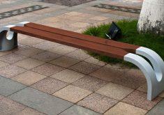 Moderne Gartenbank Selber Bauen Holz Und Eisen Braun