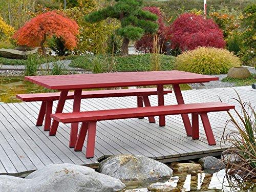 Gartenbank Alu Rot