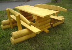 Gartenbank Holz Massiv Rustikal Deutsche Handweksqualitat