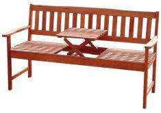 Gartenbank Holz Mit Integriertem Tisch Massuvem Eukalyptus