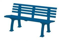 Gartenbank Kunststoff Blau Shop