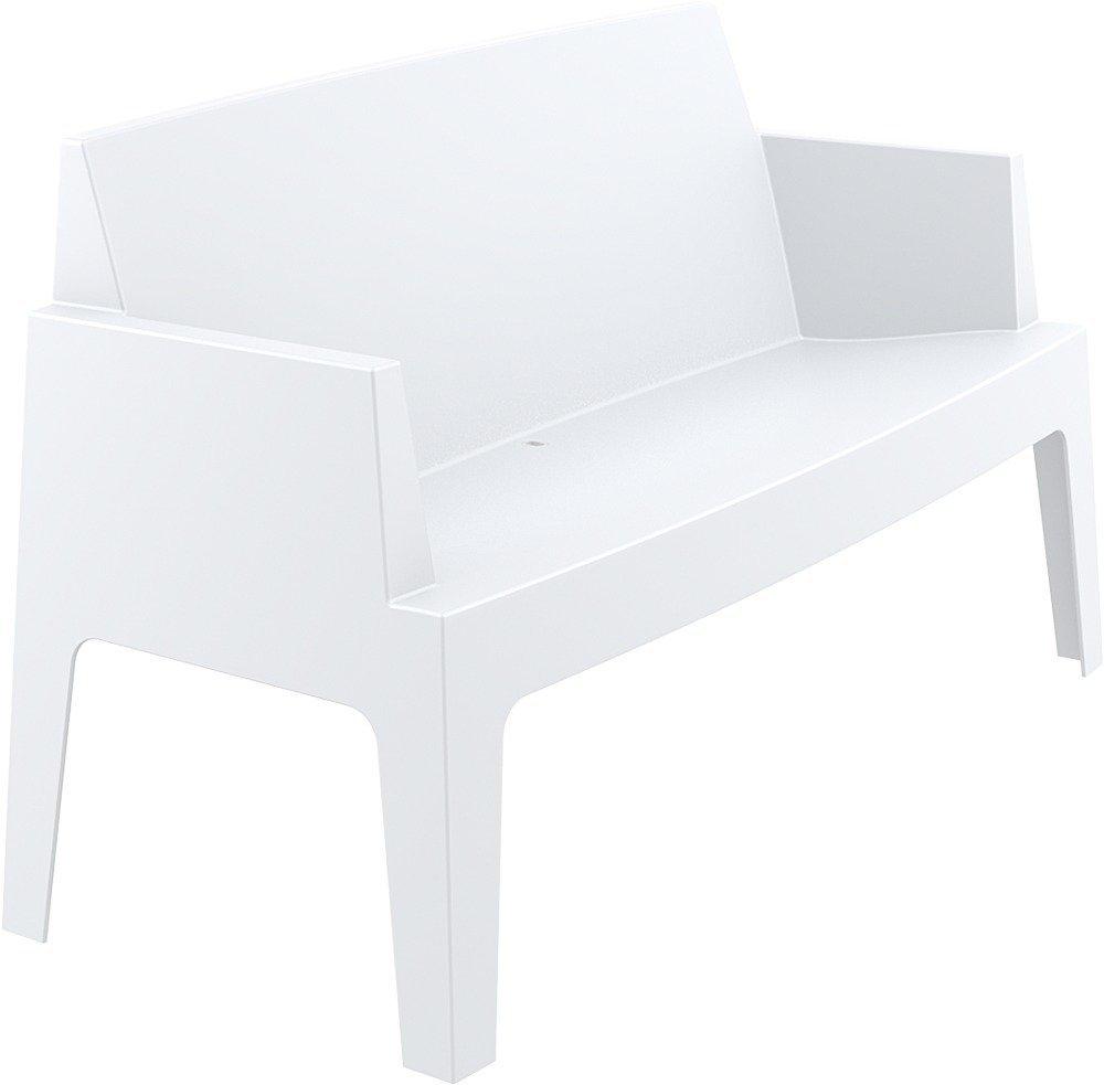 Gartenbank Kunststoff Design Clp Weiss Stapebar