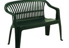 Gartenbank Kunststoff Grün 2 Sitzig Dunkelgrun