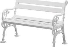 Gartenbank Kunststoff Weiß 3 Sitzer Blome Linderhof