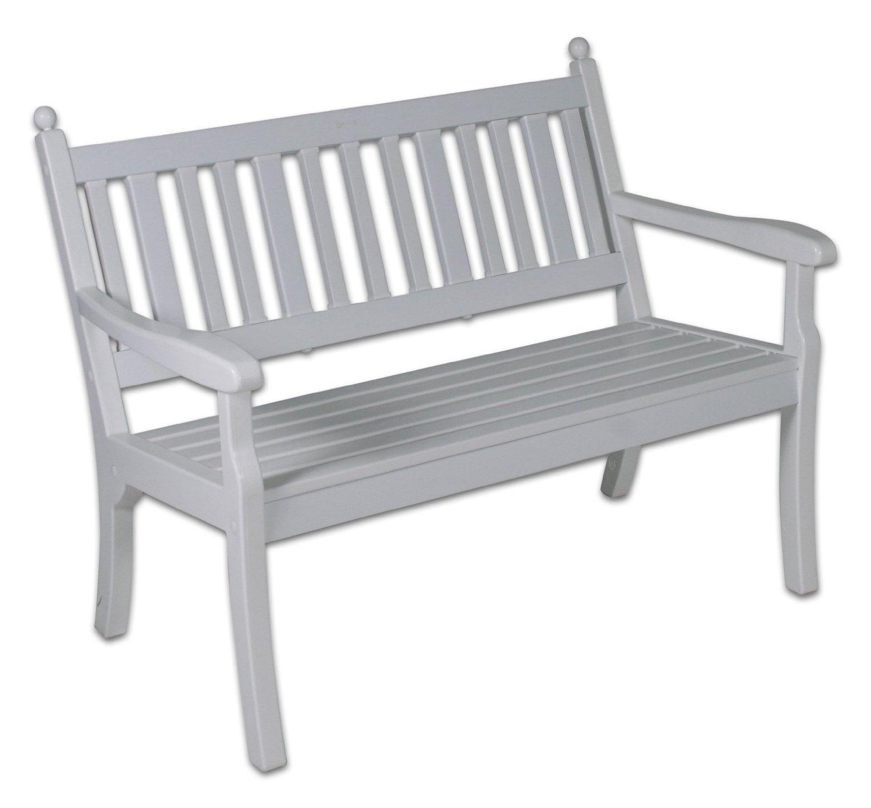 Gartenbank Kunststoff Weiß Vollkunststoffgestell 2 Sitzig