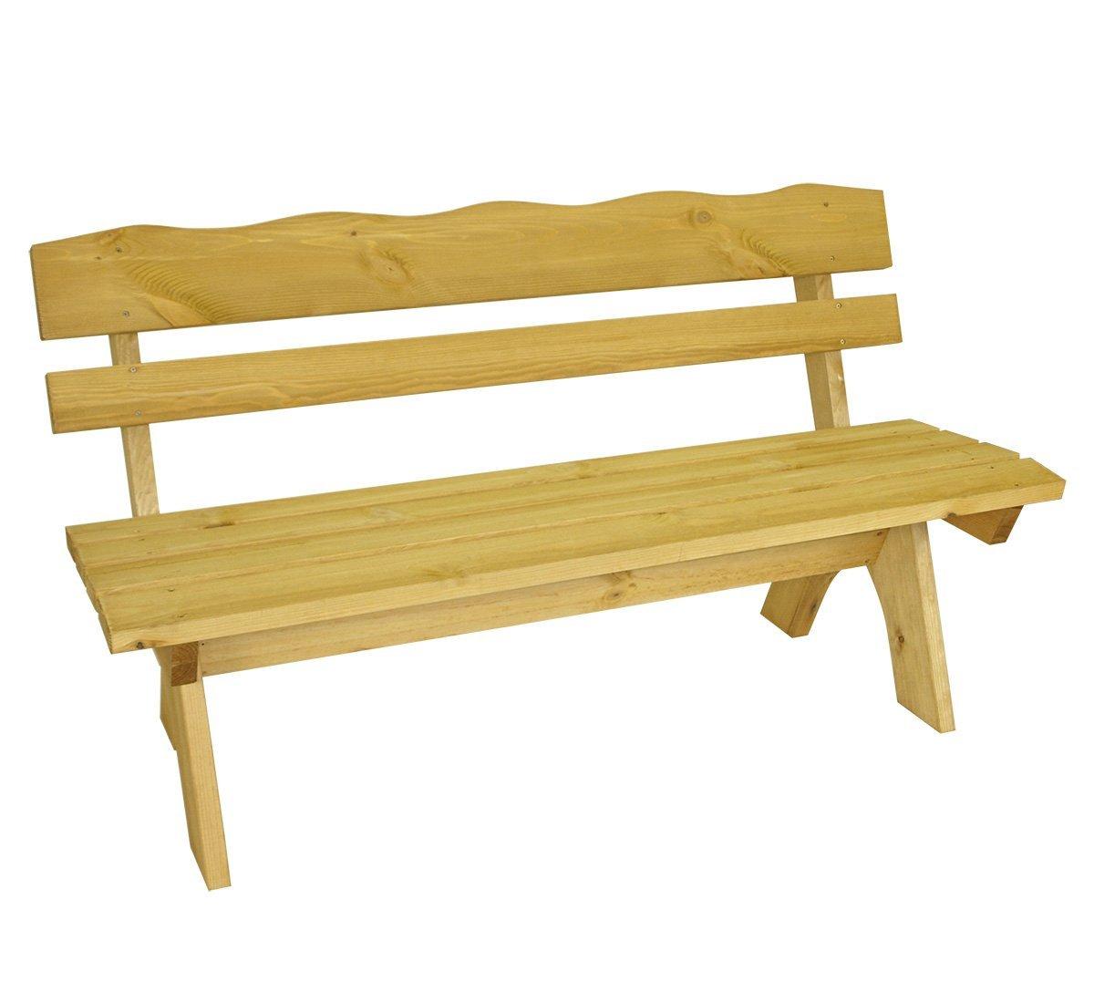 Gartenbank Massiv Holz Freital Kiefer 150 Cm