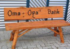 Gartenbank Massivholz Rustikal Oma Opa