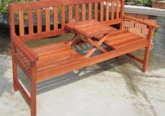 Gartenbank Mit Ausklapptisch 3 Sitzer Eukalyptus Holz