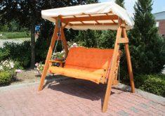 Gartenbank Mit Dach Holz Garten Schaukel Kiefer